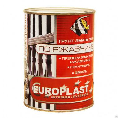 Грунт-эмаль по ржавчине EUROPLAST, 1,9 кг, жёлтая